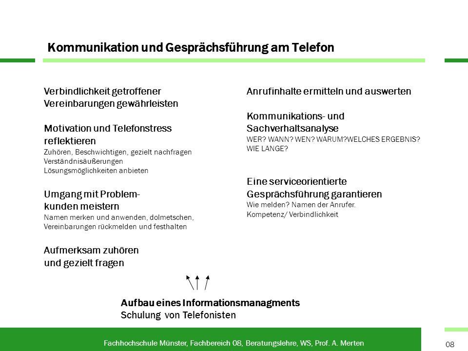 Kommunikation und Gesprächsführung am Telefon
