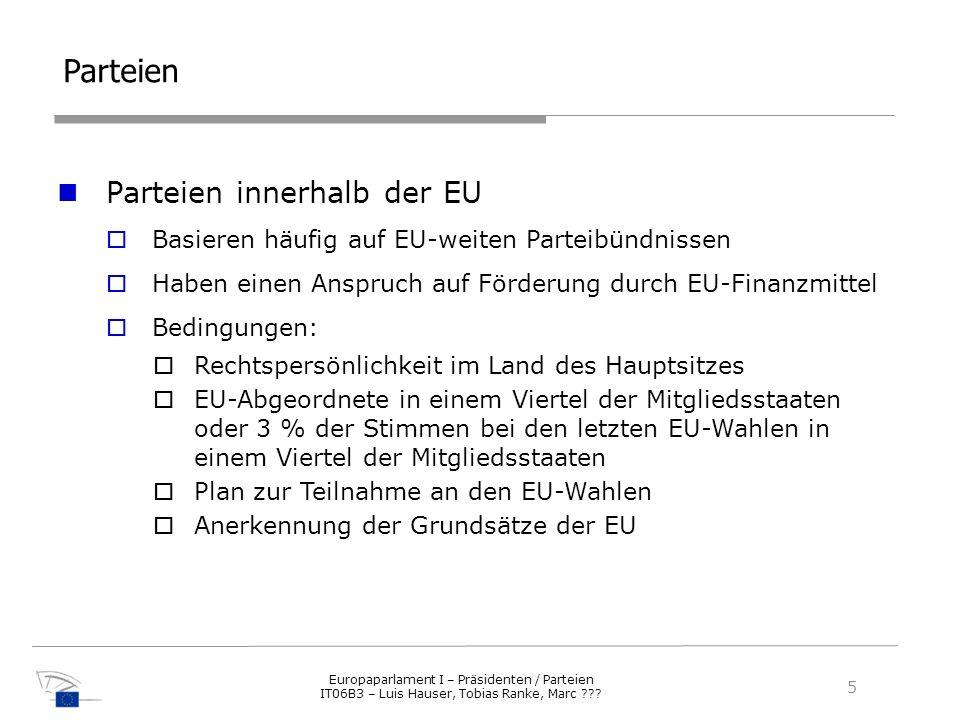 Parteien Parteien innerhalb der EU