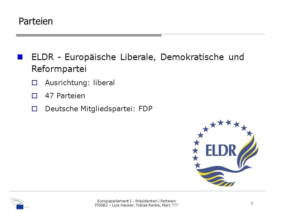 Parteien ELDR - Europäische Liberale, Demokratische und Reformpartei