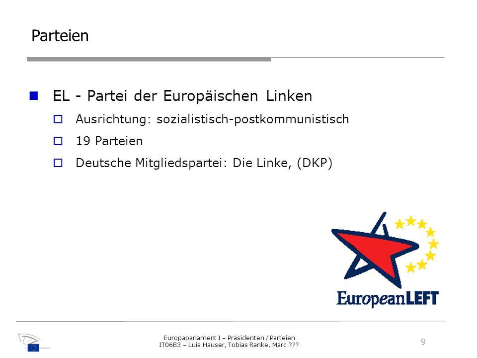 Parteien EL - Partei der Europäischen Linken