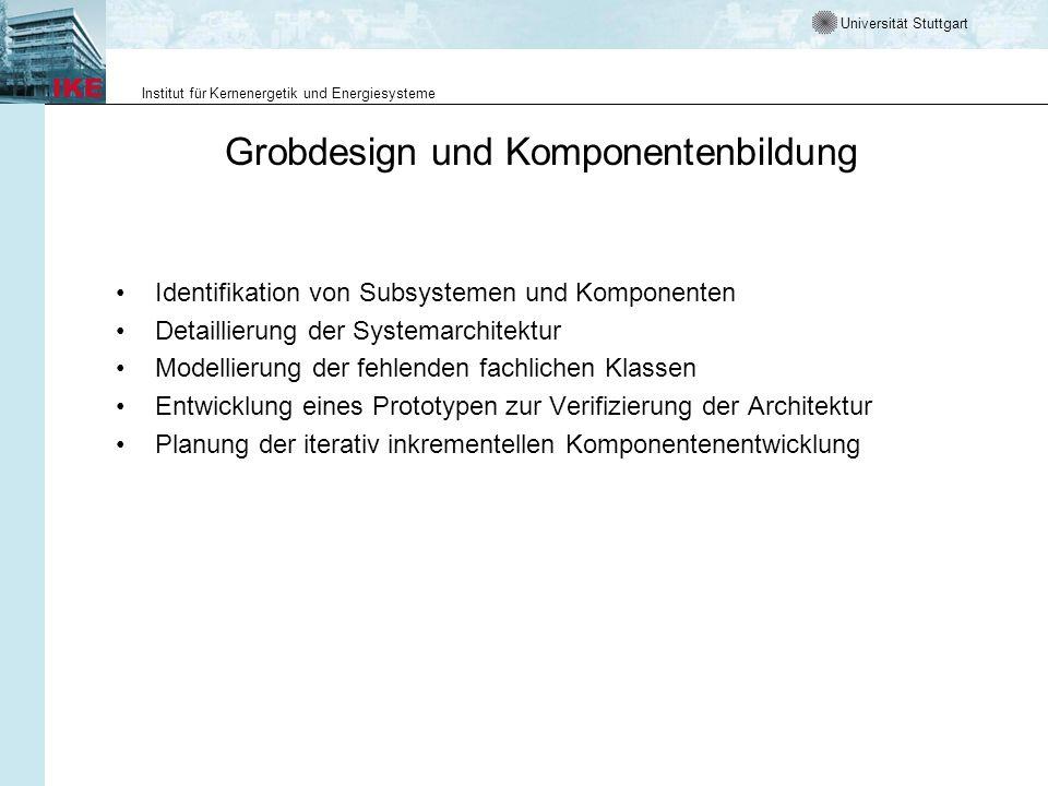 Grobdesign und Komponentenbildung