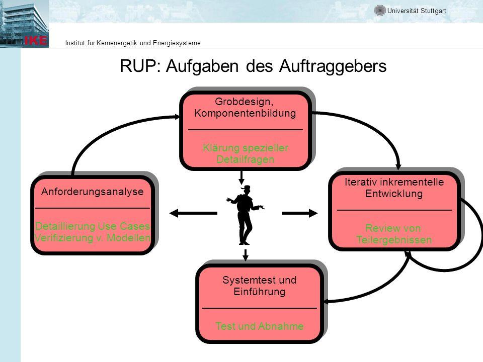RUP: Aufgaben des Auftraggebers