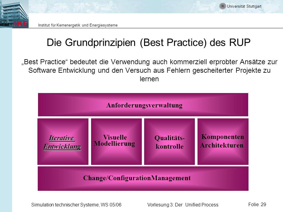 Die Grundprinzipien (Best Practice) des RUP