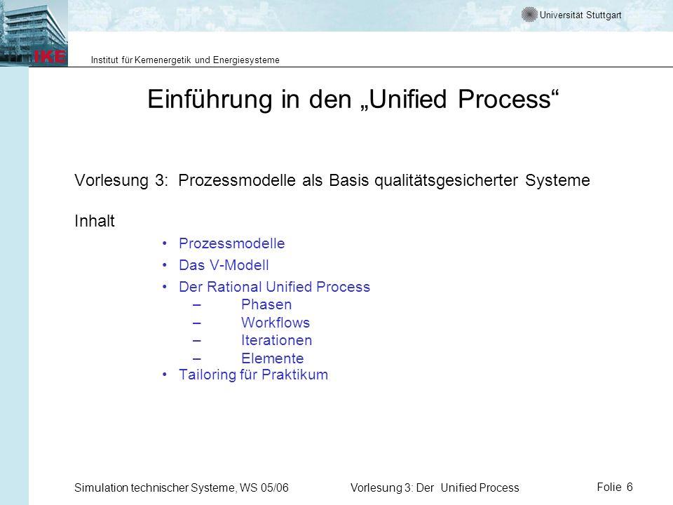 """Einführung in den """"Unified Process"""