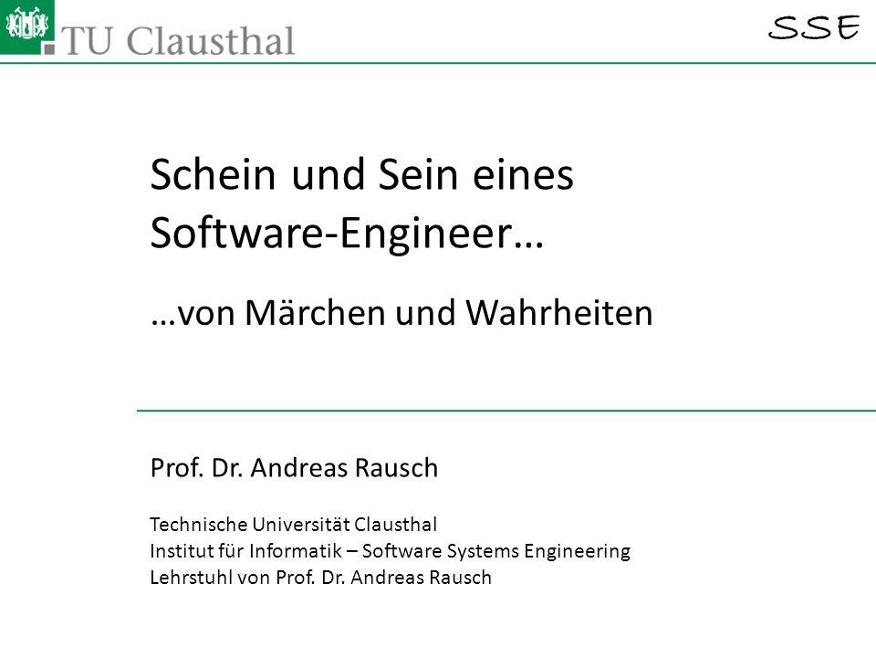 Schein und Sein eines Software-Engineer…