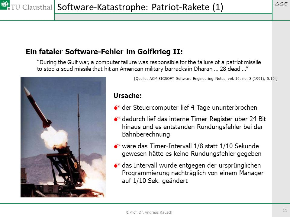 Software-Katastrophe: Patriot-Rakete (1)