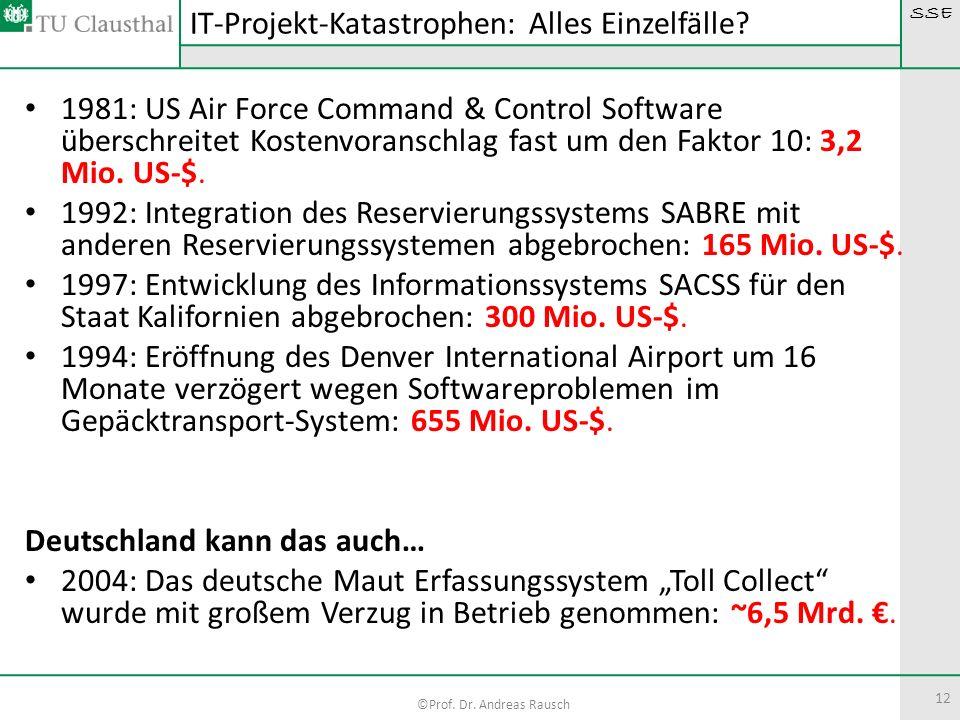 IT-Projekt-Katastrophen: Alles Einzelfälle