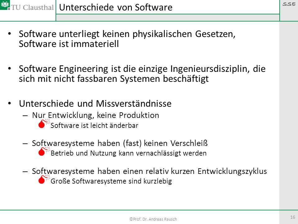 Unterschiede von Software