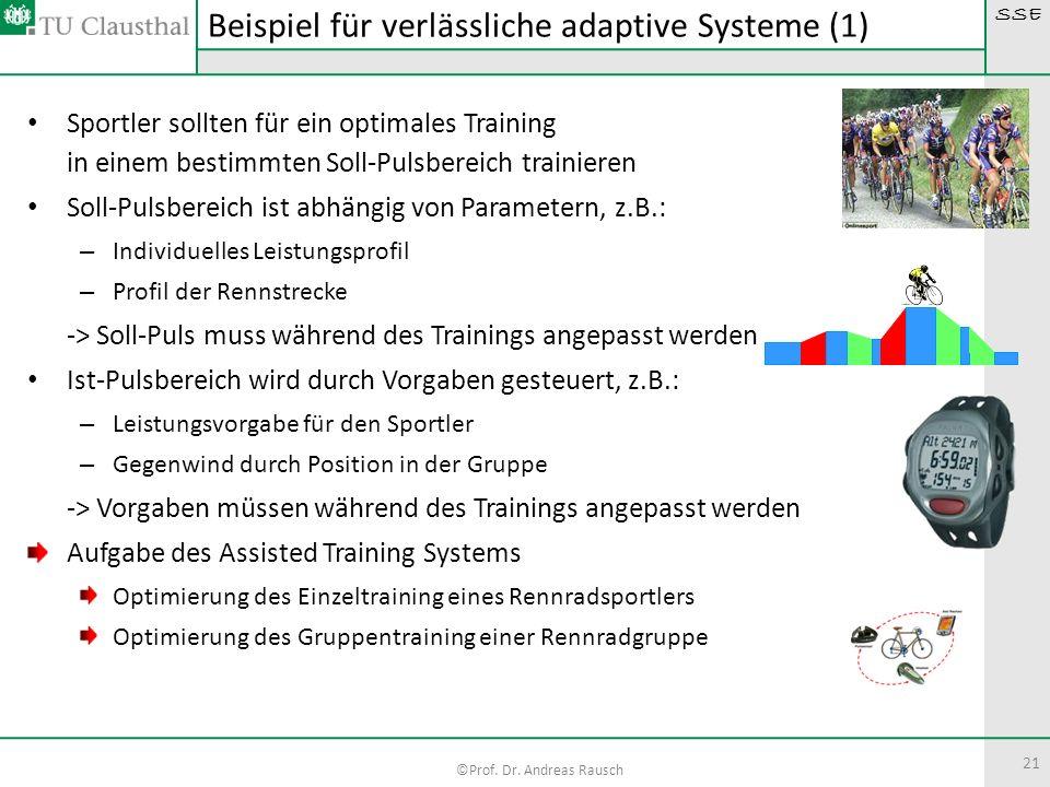 Beispiel für verlässliche adaptive Systeme (1)