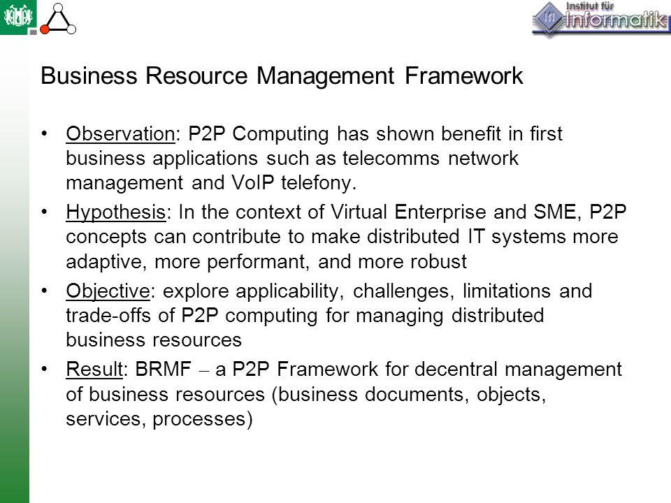 Business Resource Management Framework