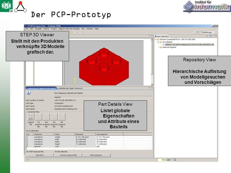 Der PCP-Prototyp STEP 3D Viewer