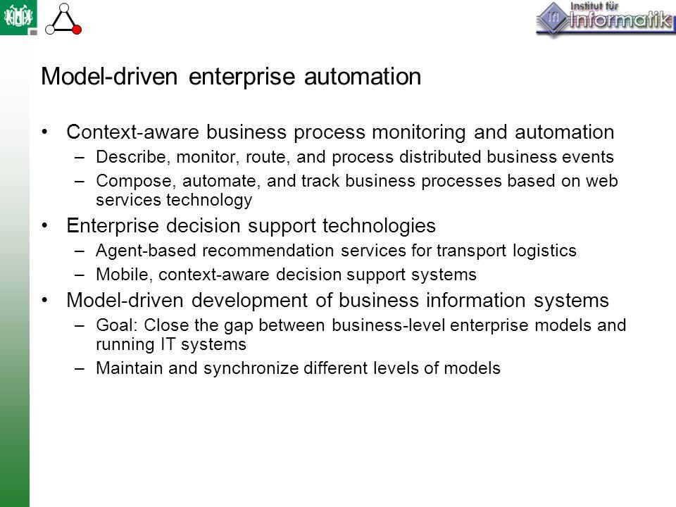 Model-driven enterprise automation