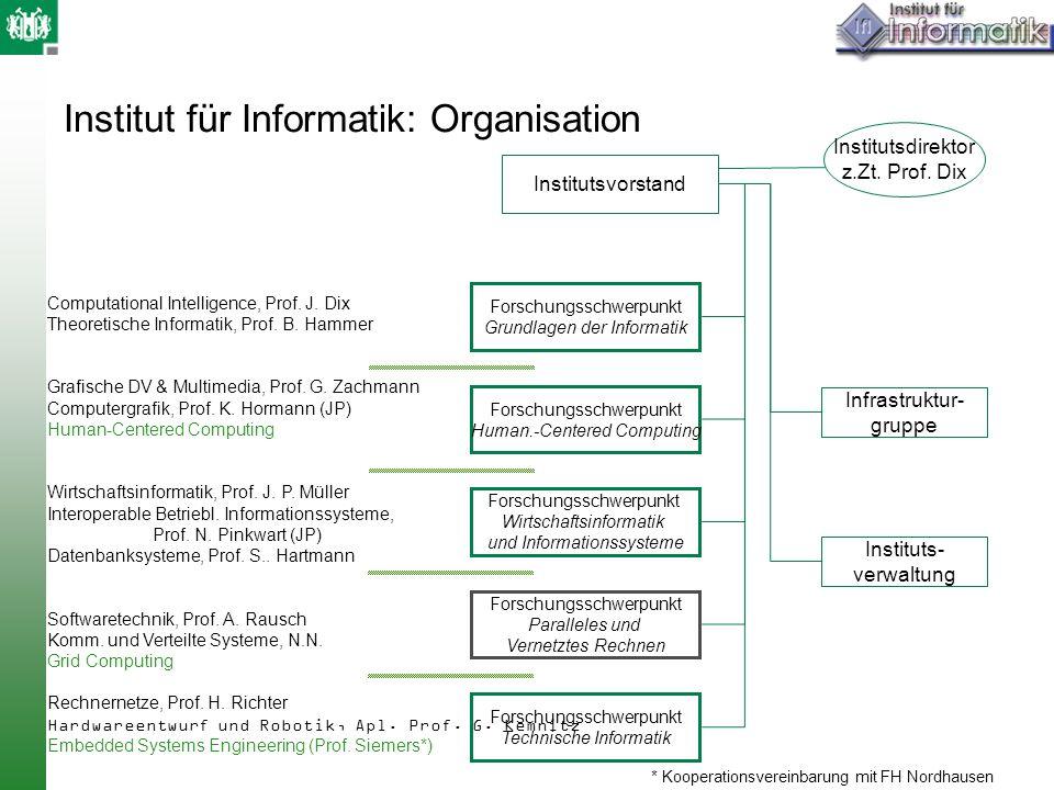 Institut für Informatik: Organisation