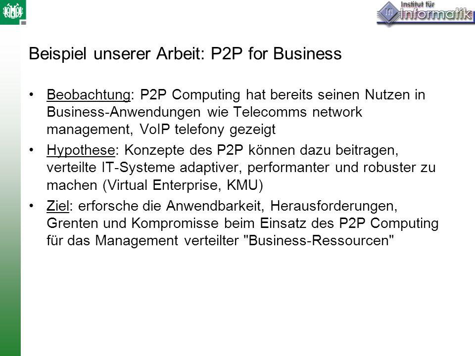 Beispiel unserer Arbeit: P2P for Business