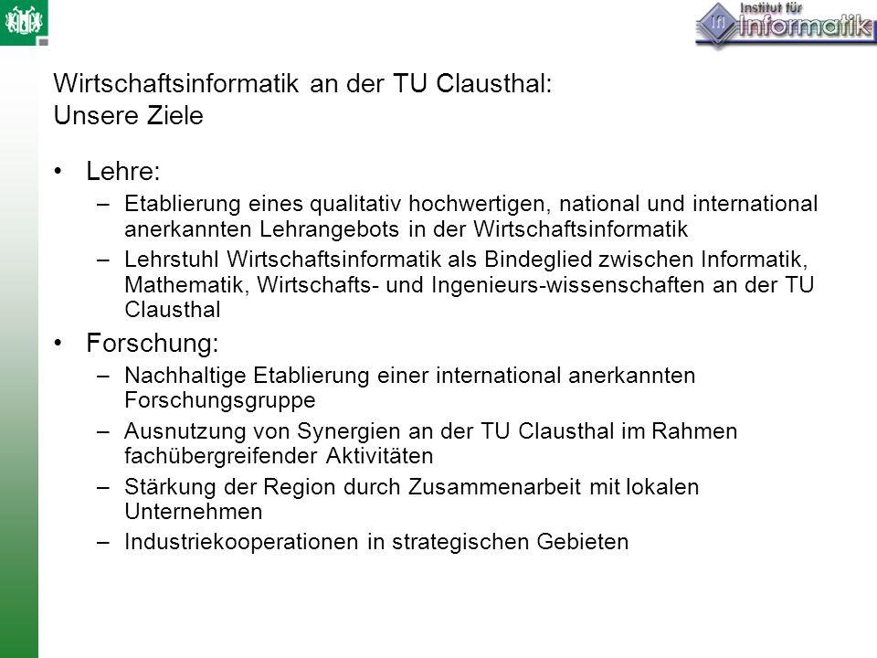 Wirtschaftsinformatik an der TU Clausthal: Unsere Ziele