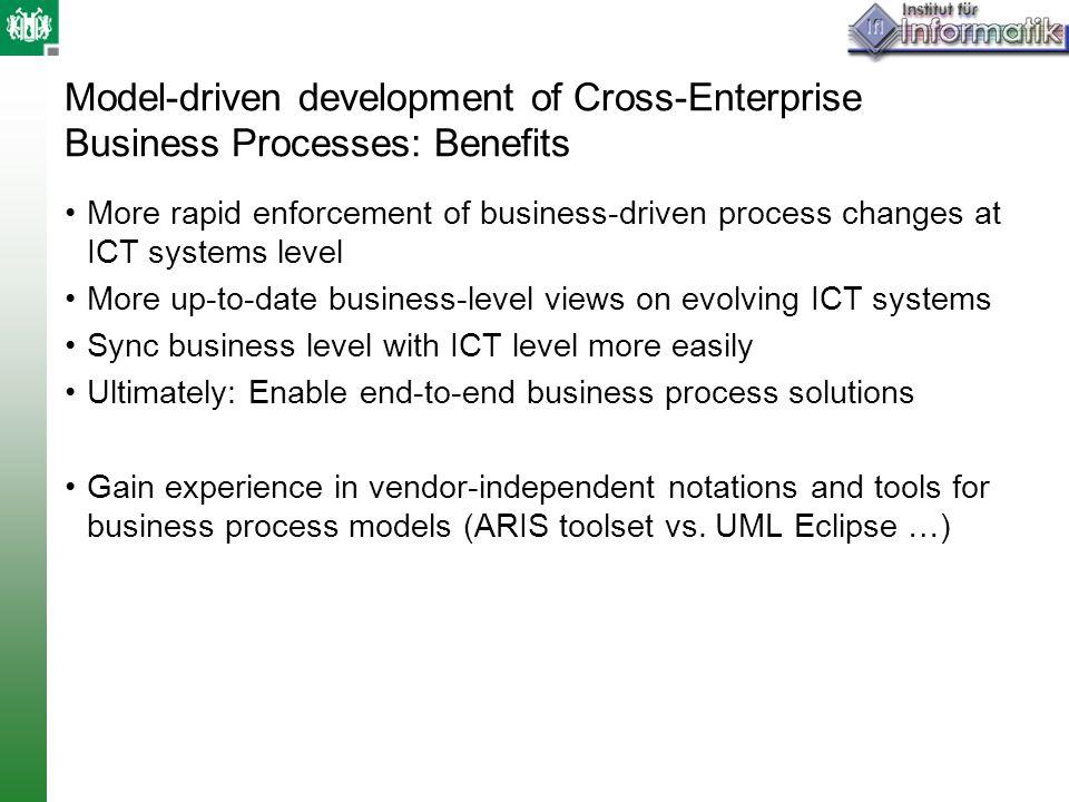 Model-driven development of Cross-Enterprise Business Processes: Benefits