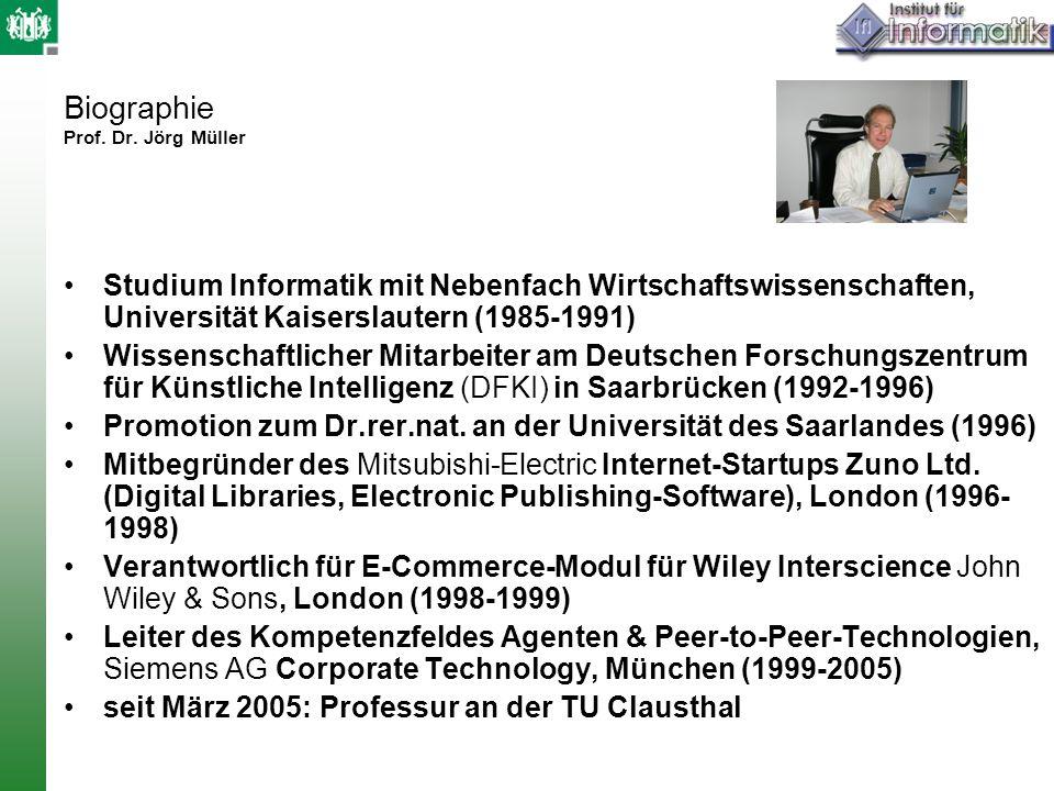 Biographie Prof. Dr. Jörg Müller