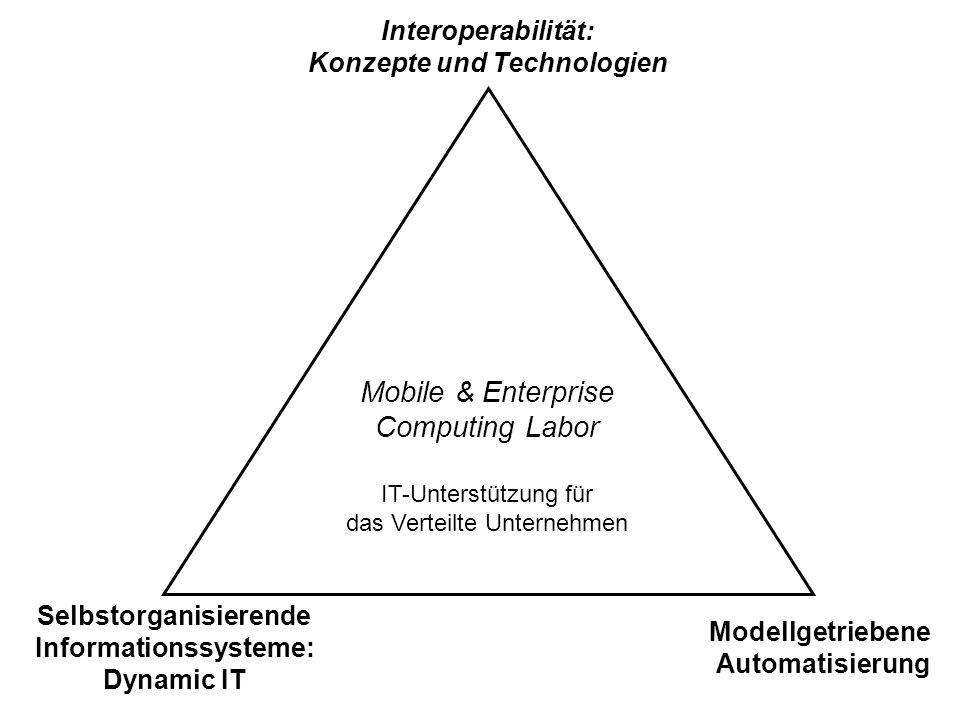 Konzepte und Technologien Selbstorganisierende Informationssysteme: