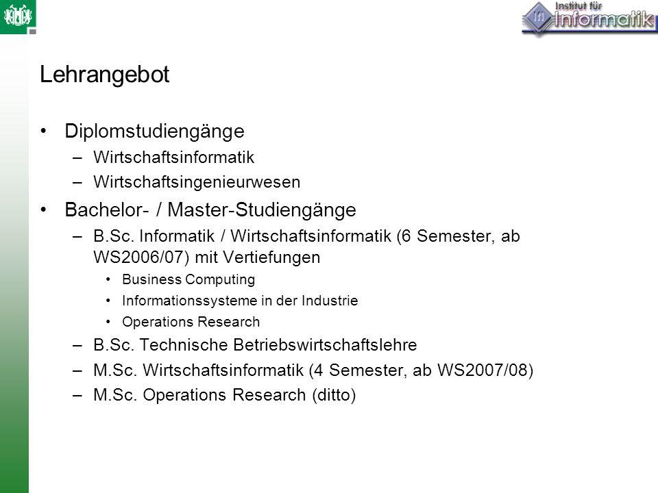 Lehrangebot Diplomstudiengänge Bachelor- / Master-Studiengänge