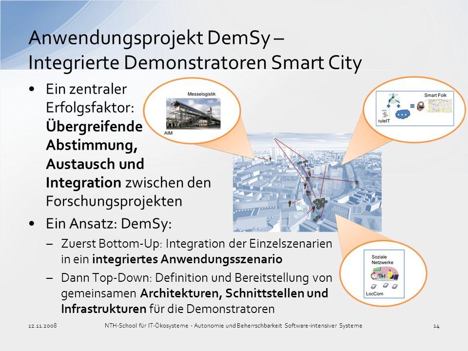 Anwendungsprojekt DemSy – Integrierte Demonstratoren Smart City