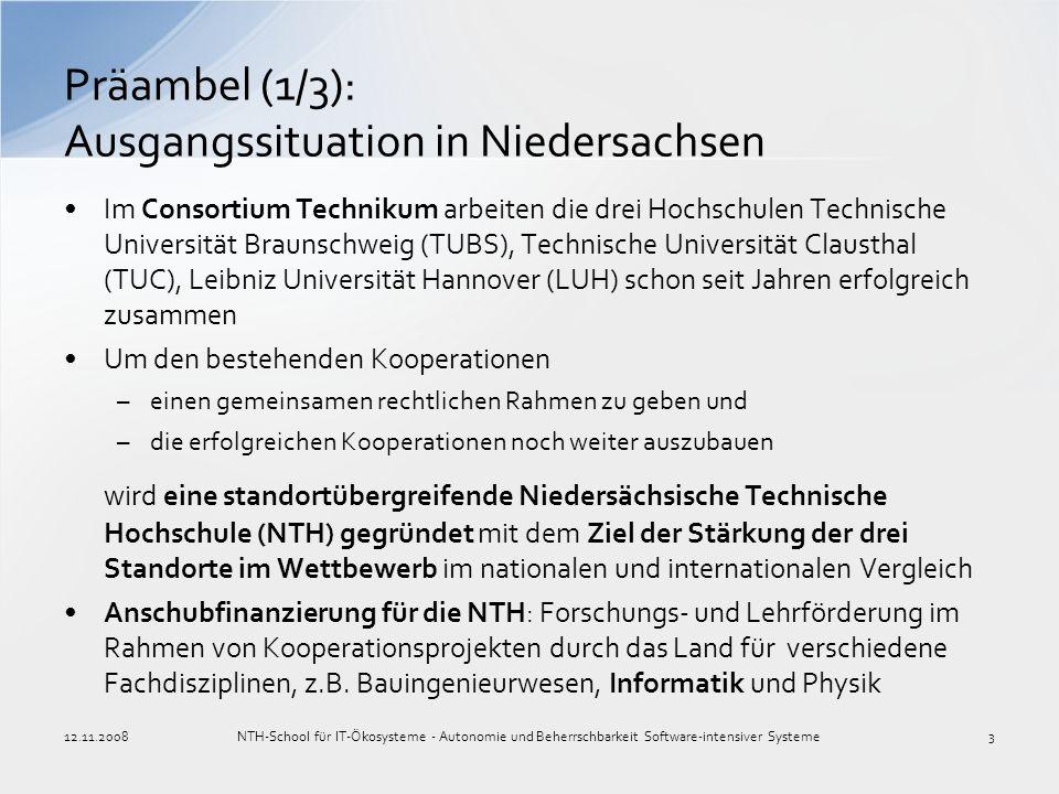 Präambel (1/3): Ausgangssituation in Niedersachsen