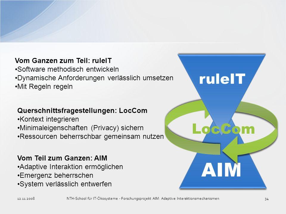 AIM ruleIT LocCom Vom Ganzen zum Teil: ruleIT