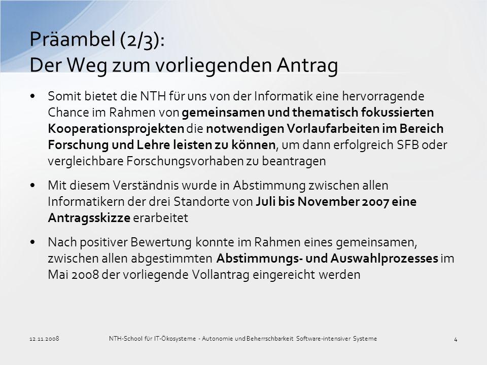 Präambel (2/3): Der Weg zum vorliegenden Antrag