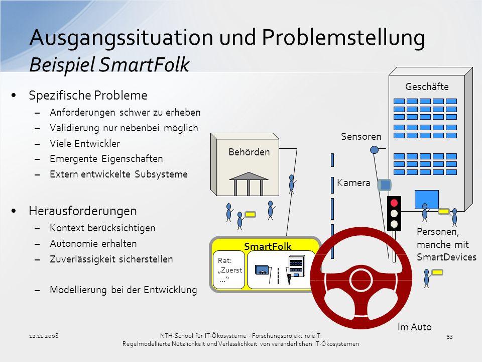Ausgangssituation und Problemstellung Beispiel SmartFolk