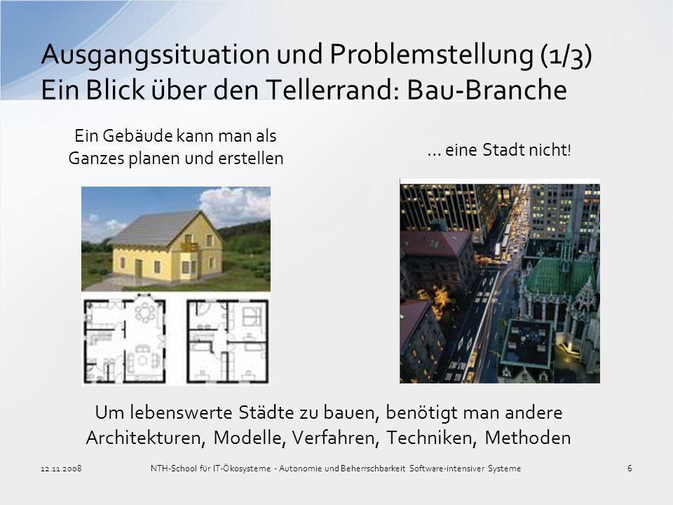 Ein Gebäude kann man als Ganzes planen und erstellen