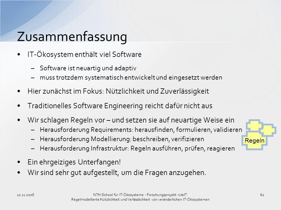 Zusammenfassung IT-Ökosystem enthält viel Software