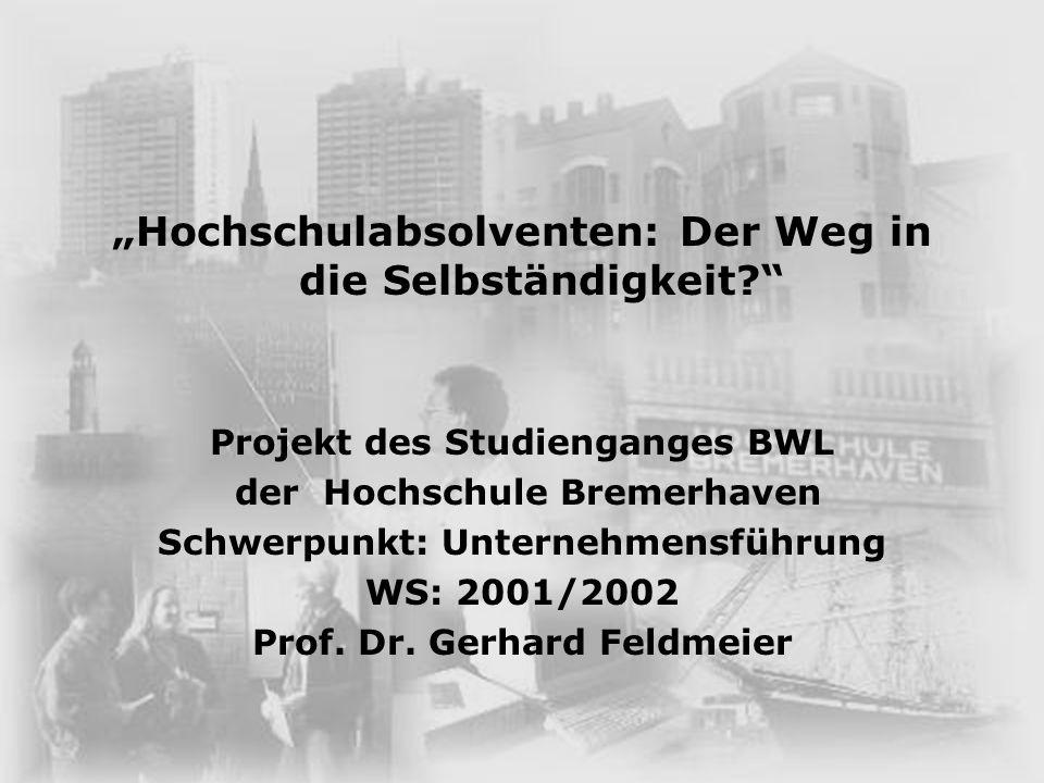 """""""Hochschulabsolventen: Der Weg in die Selbständigkeit"""
