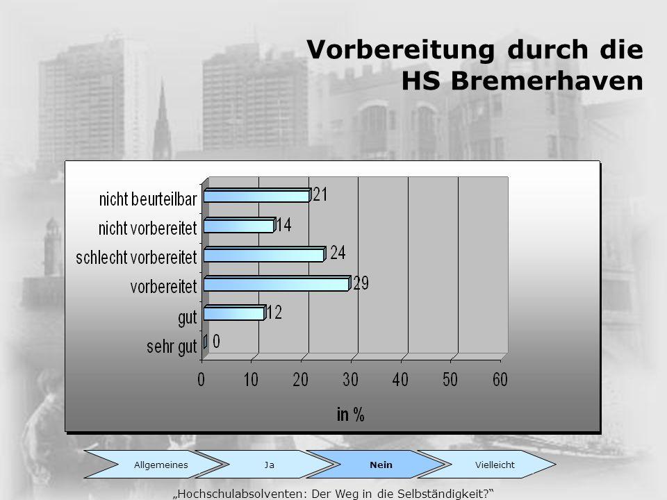 Vorbereitung durch die HS Bremerhaven