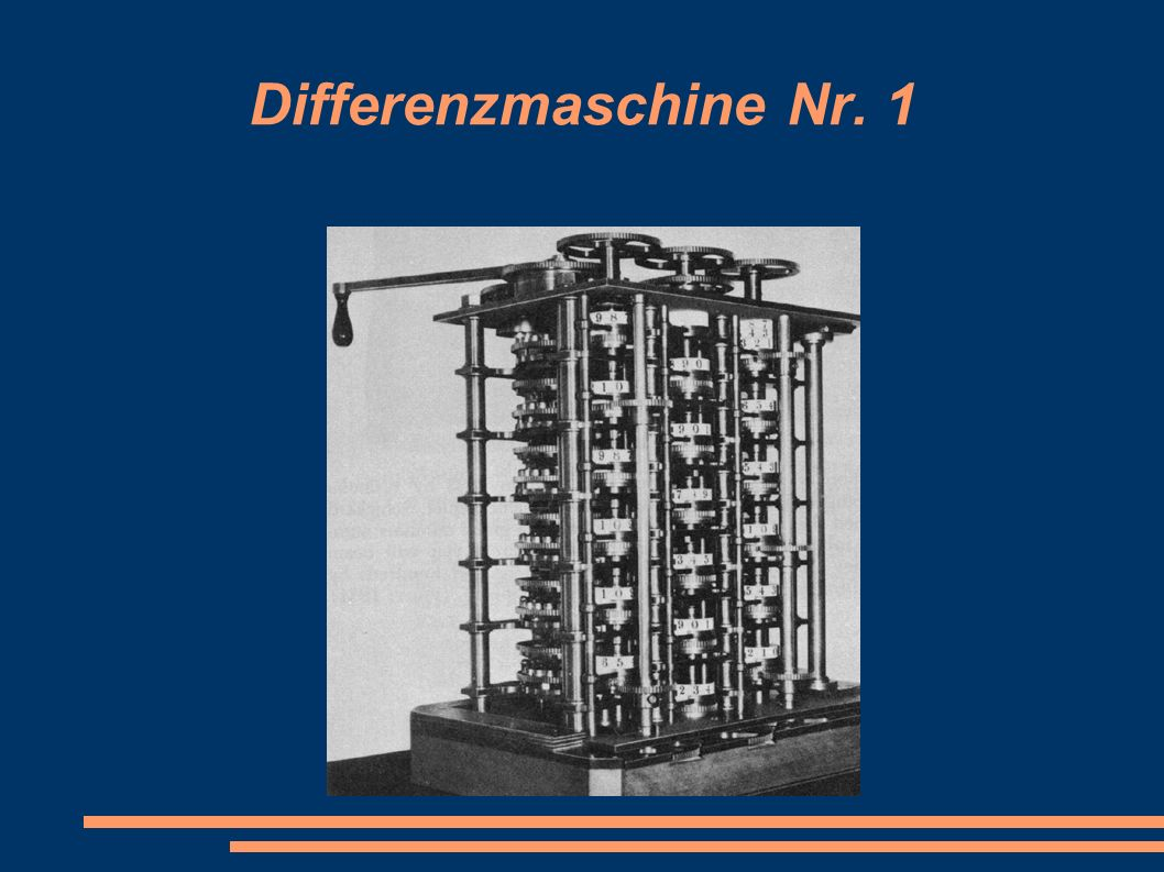 Differenzmaschine Nr. 1