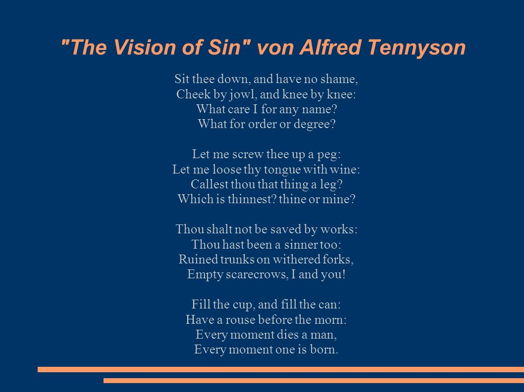 The Vision of Sin von Alfred Tennyson