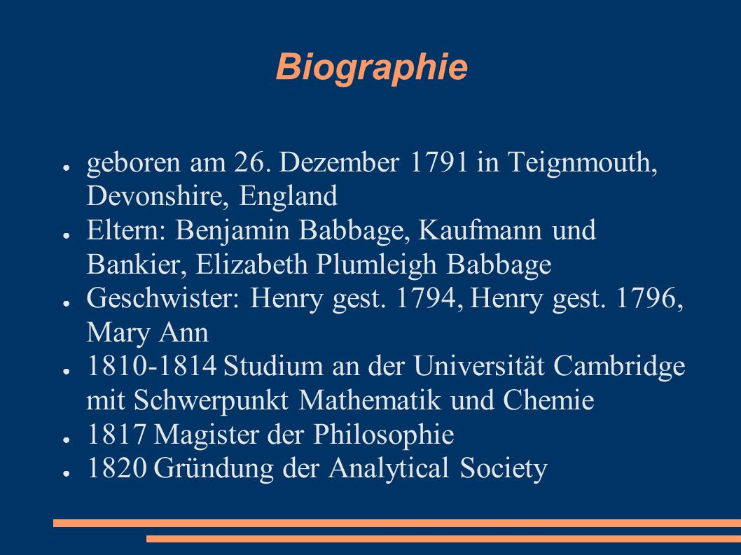 Biographie geboren am 26. Dezember 1791 in Teignmouth, Devonshire, England.