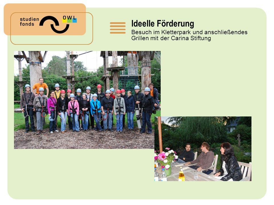 Ideelle Förderung Besuch im Kletterpark und anschließendes Grillen mit der Carina Stiftung