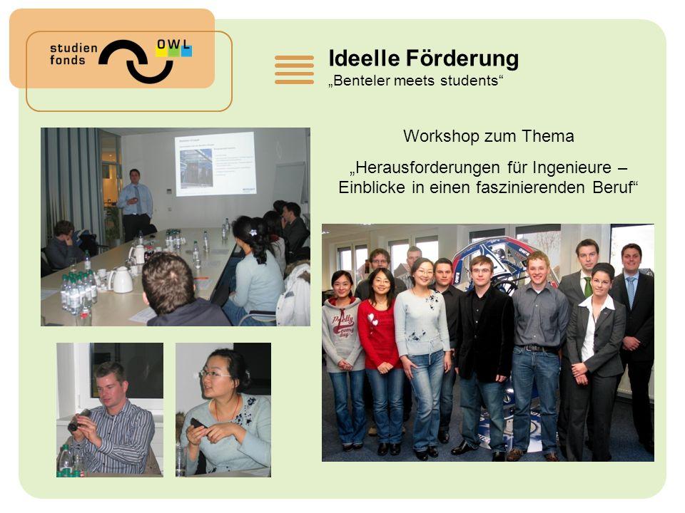 Ideelle Förderung Workshop zum Thema
