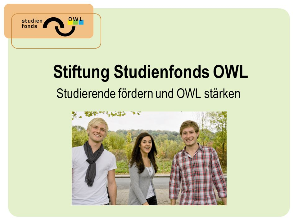 Stiftung Studienfonds OWL