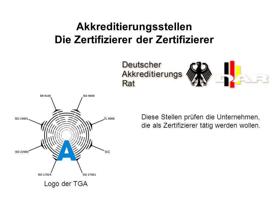 Akkreditierungsstellen Die Zertifizierer der Zertifizierer
