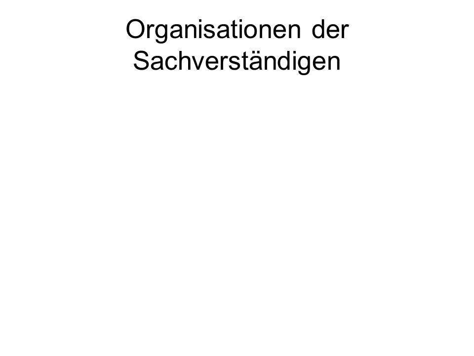 Organisationen der Sachverständigen