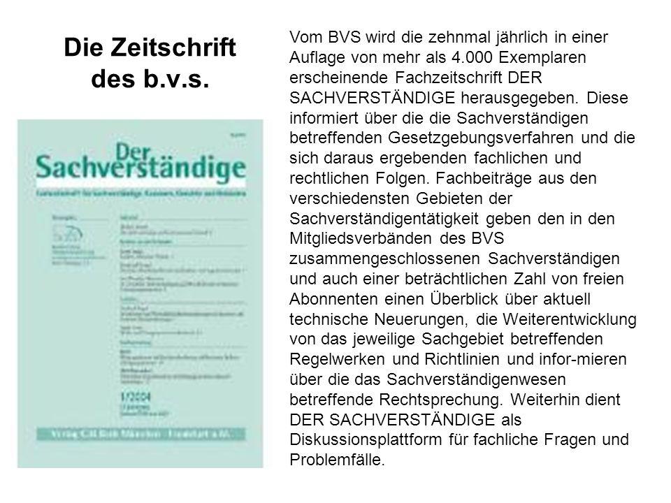 Die Zeitschrift des b.v.s.