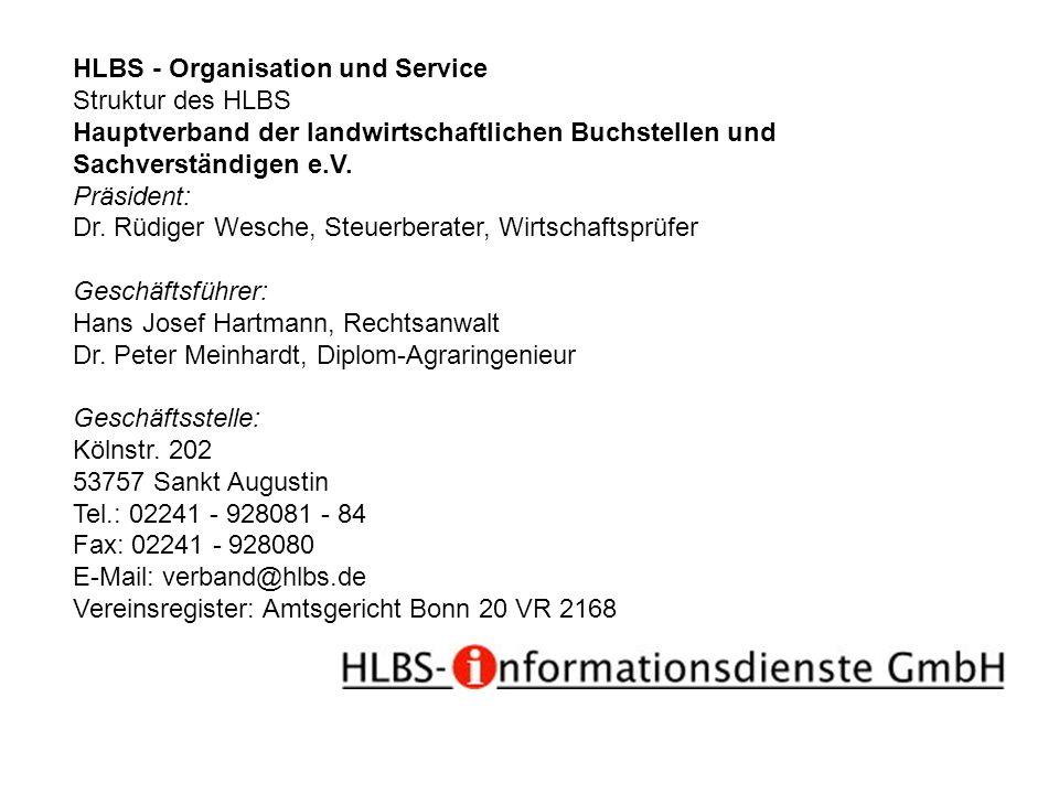 HLBS - Organisation und Service Struktur des HLBS