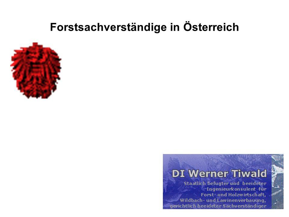 Forstsachverständige in Österreich