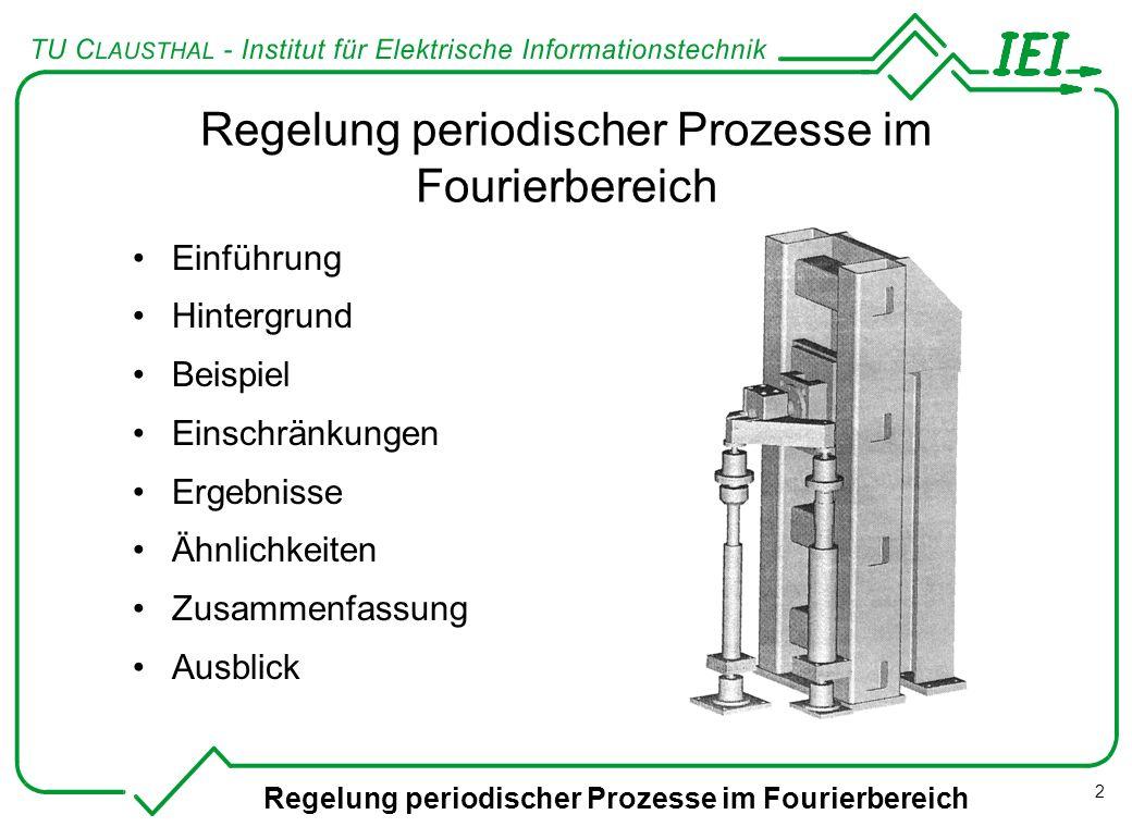 Regelung periodischer Prozesse im Fourierbereich