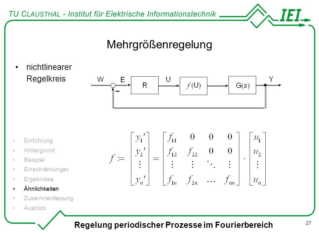 Mehrgrößenregelung nichtlinearer Regelkreis