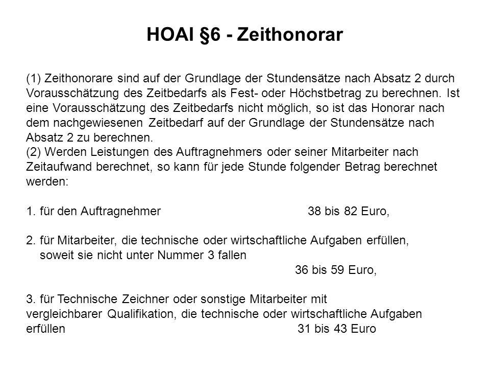 HOAI §6 - Zeithonorar