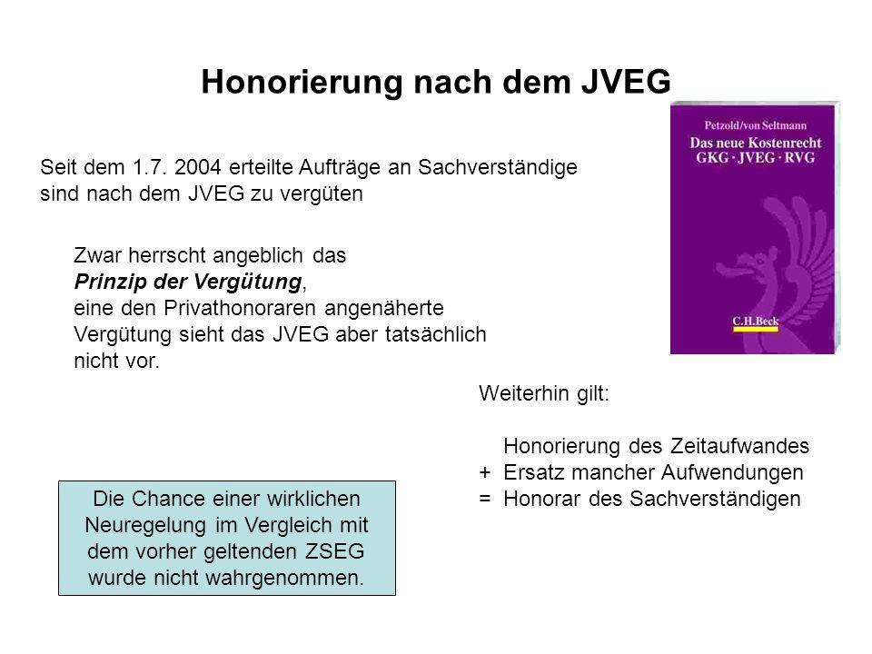 Honorierung nach dem JVEG