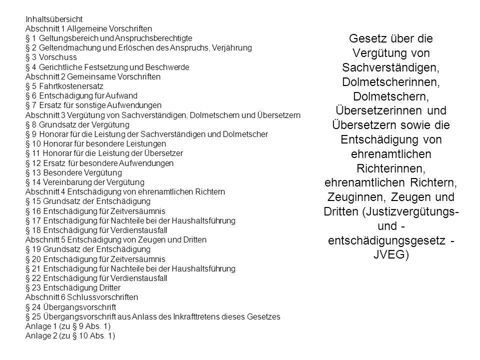 Inhaltsübersicht Abschnitt 1 Allgemeine Vorschriften. § 1 Geltungsbereich und Anspruchsberechtigte.