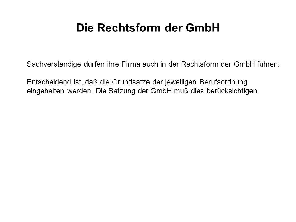 Die Rechtsform der GmbH