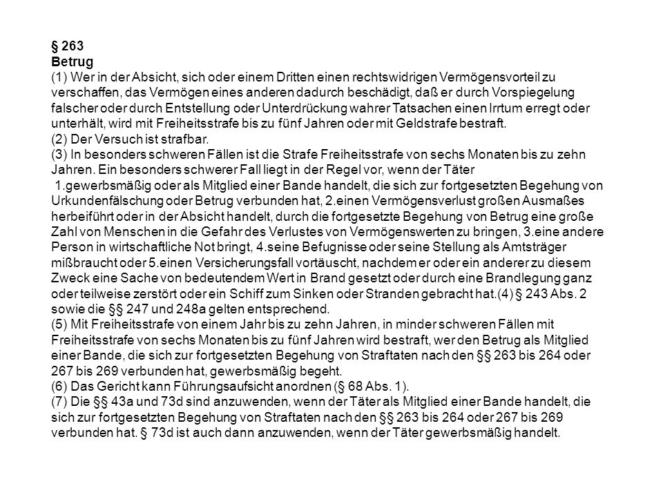 § 263 Betrug